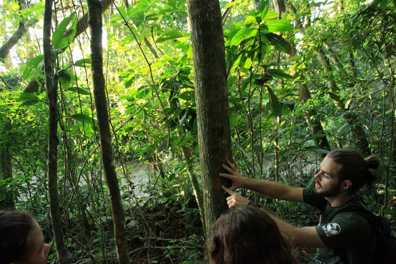 Curso a campo de educação ambiental.